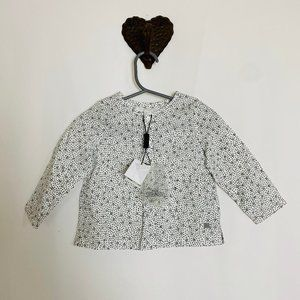 BURBERRY - White Popover Blouse with Polkadots